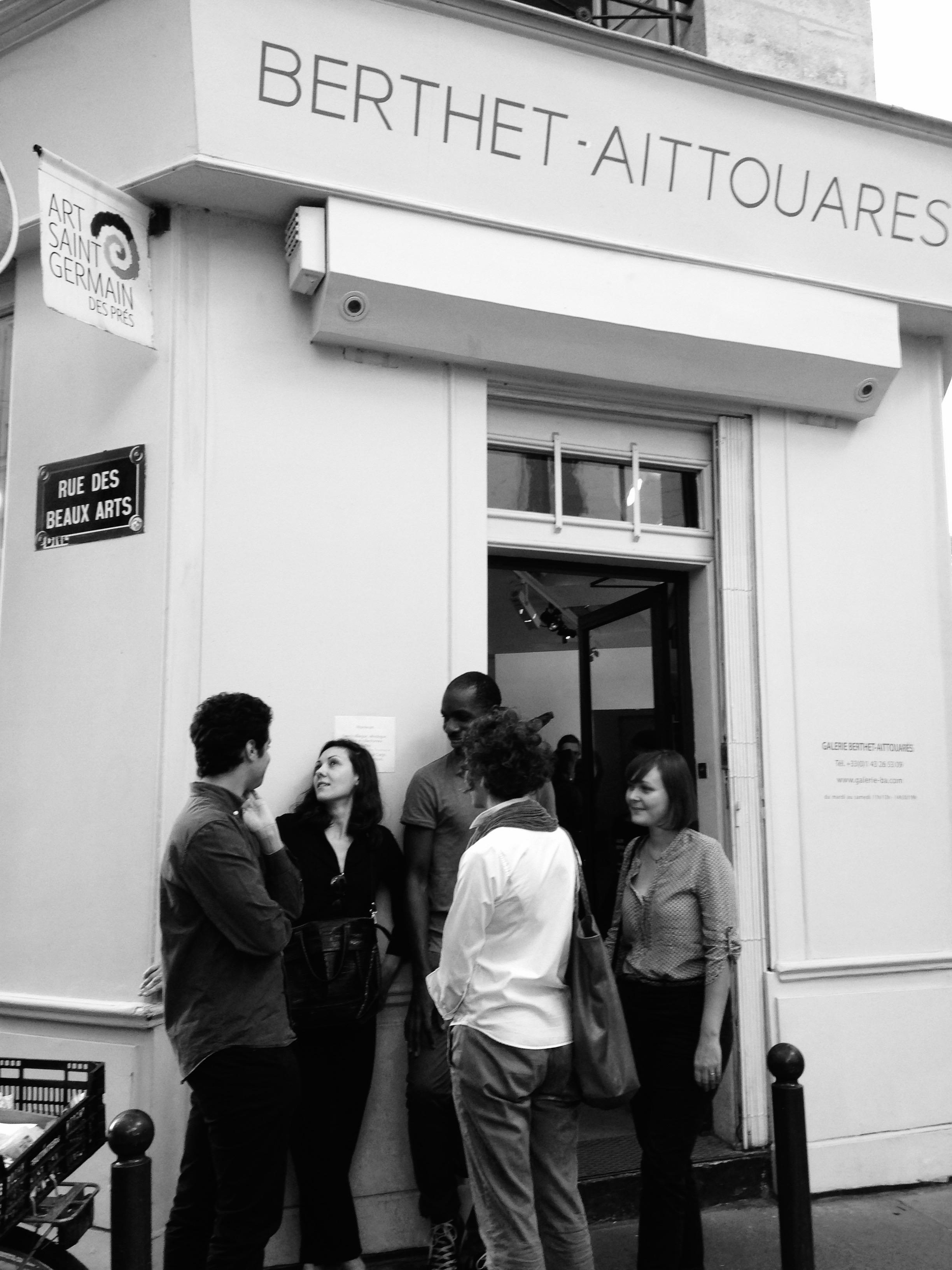 Photos de la rencontre avec F. Affergan à la Galerie Berthet-Aittouarès